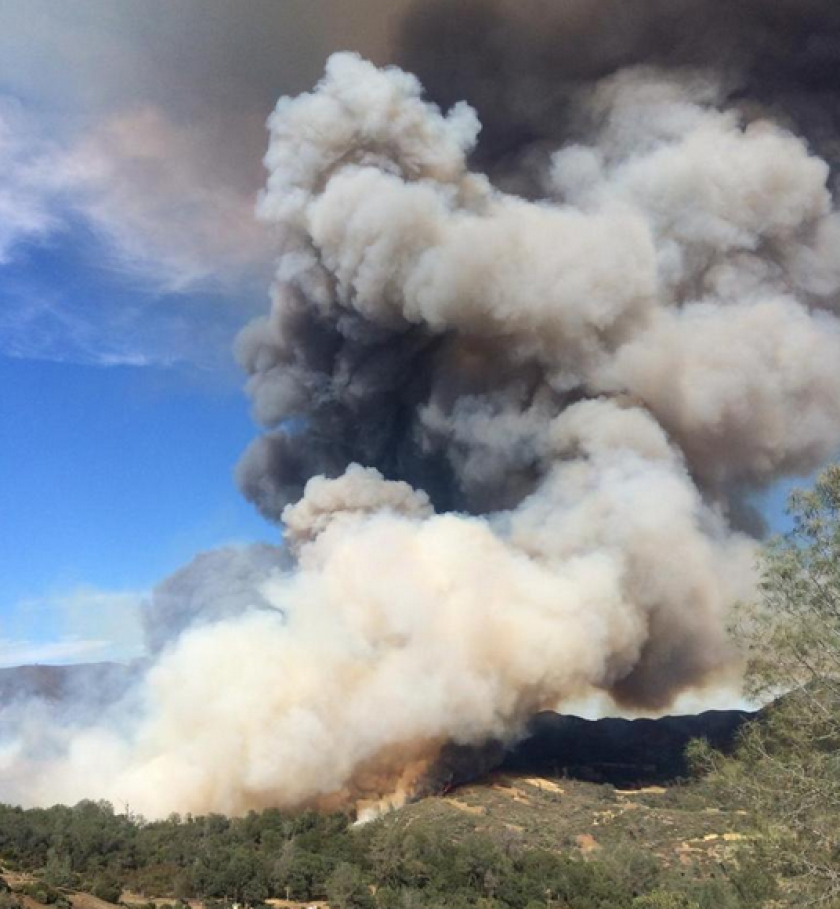 The Jerusalem fire, just north of Napa Valley, tore through thousands of acres after erupting Sunday.