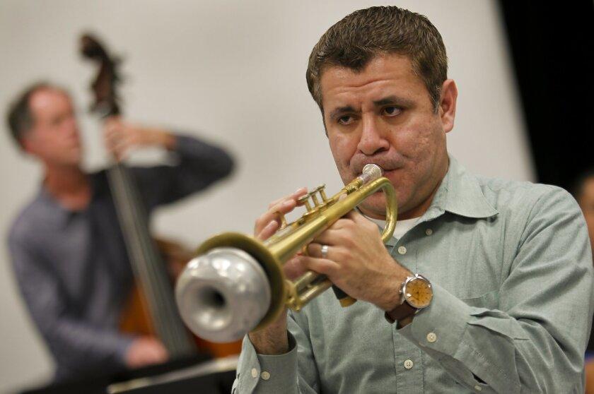 Trumpeter Gilbert Castellanos will reunite with bassist Rob Thorsen (left).