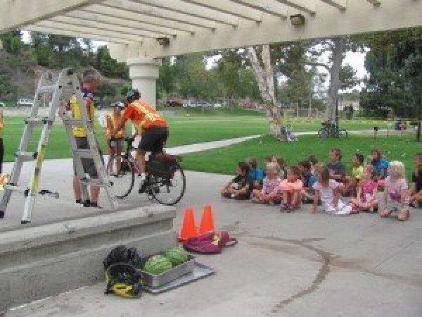 Interactive stations at the recent Bike Safety Rodeo showed kids the importance of fun and safe bicycle riding. Courtesy photos