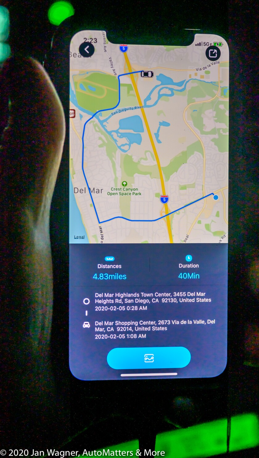 01884-20200205 VAVA 4K Dash Cam product display + in-car stills + app on iPhone X screen-Z6