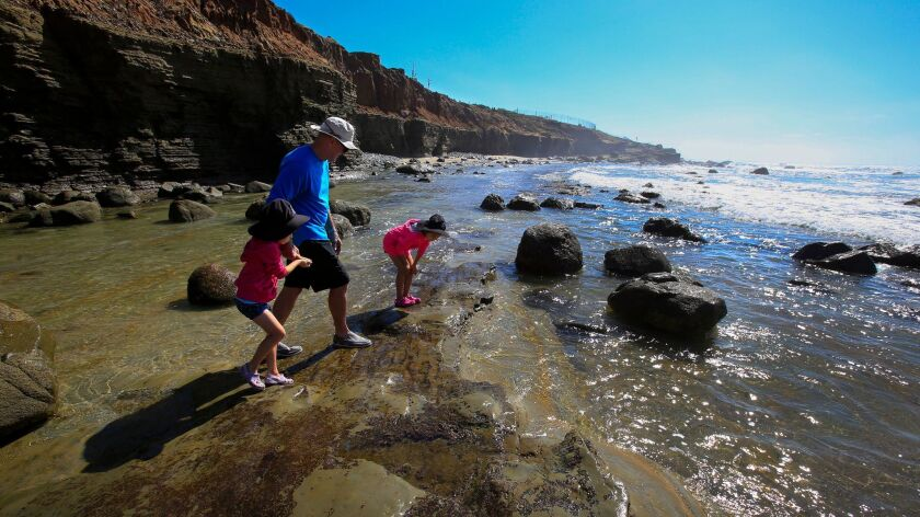 It's tide-pool central at the Cabrillo National Monument in Point Loma.