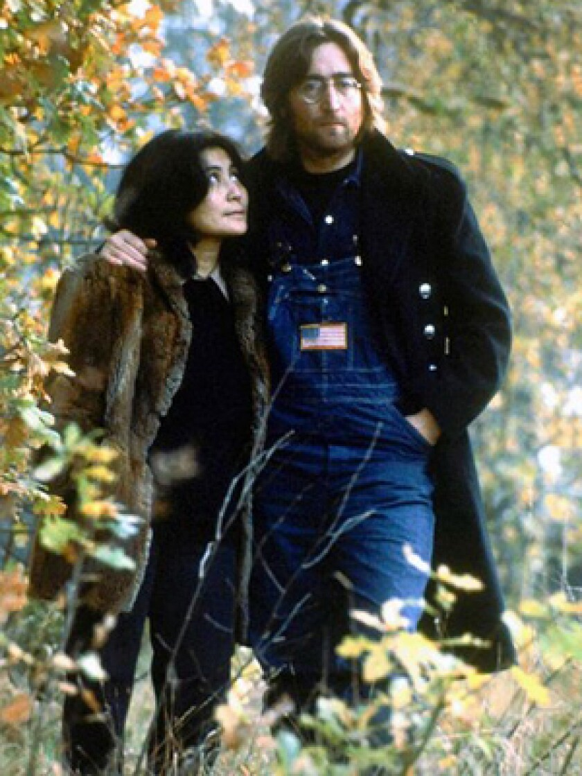 """TWO VERSIONS: Yoko Ono, with Lennon in the 1970s, helped supervise a stripped-down redo of 1980's """"Double Fantasy,"""" a comeback album turned into a swan song by his death."""