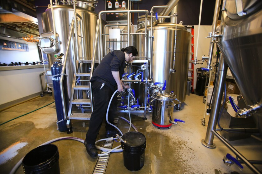 Brian Mitchell, owner and brewmaster of Pariah Brewing. (Howard Lipin/Union-Tribune)