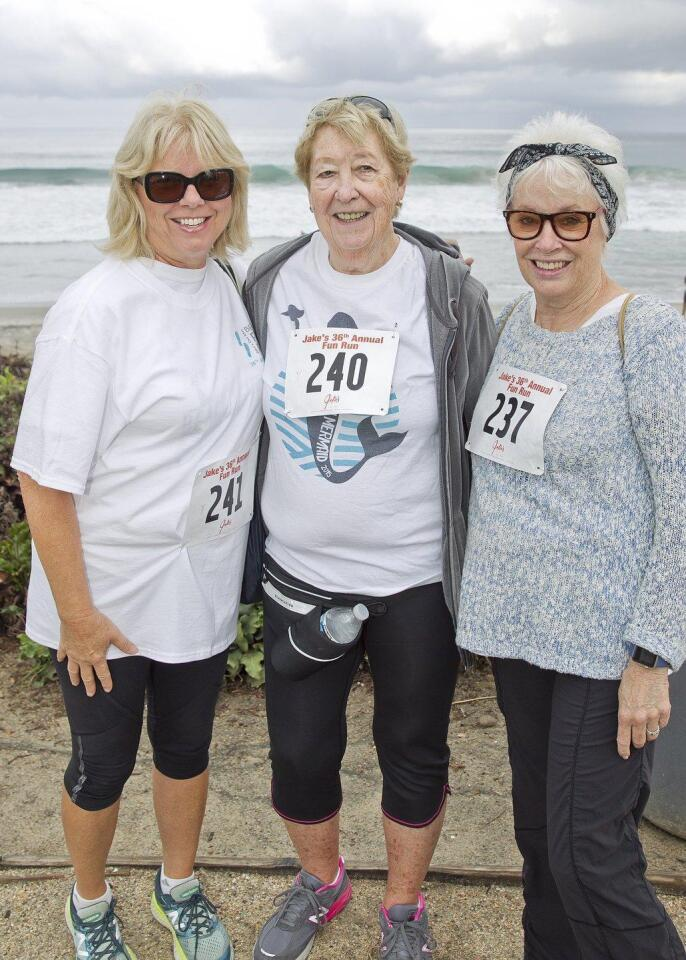 Carol Lageder, Joan McEvoy, Diane Obright represent the YMCA Mermaids