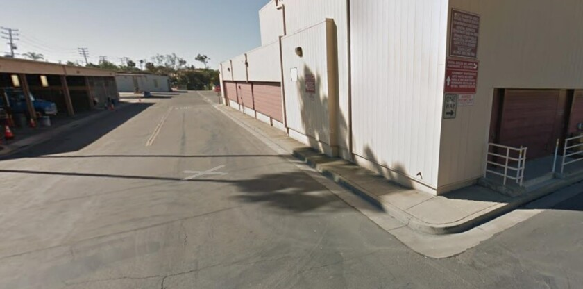 A wider look of the area of Newport Beach's public works yard where a homeless shelter could go.