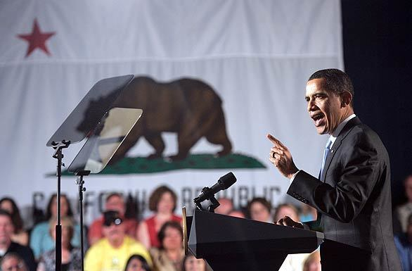 President Obama visits Southland - speaking