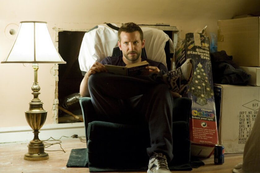 "Bradley Cooper in the adaptation of Matthew Quick's novel ""Silver Linings Playbook."""