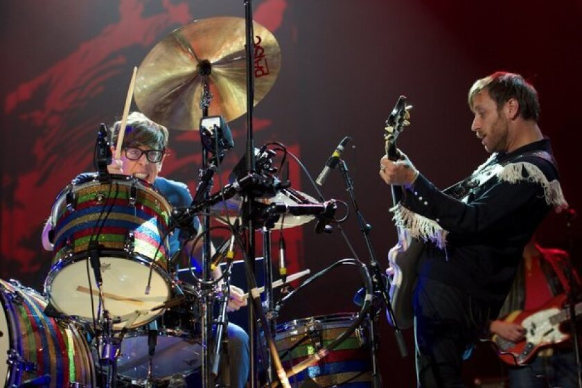 The Black Keys are returning to San Diego for a concert at North Island Credit Union Amphitheatre. The band's co-founders, shown above, are drummer Patrick Carney and guitarist-singer Dan Auerbach.