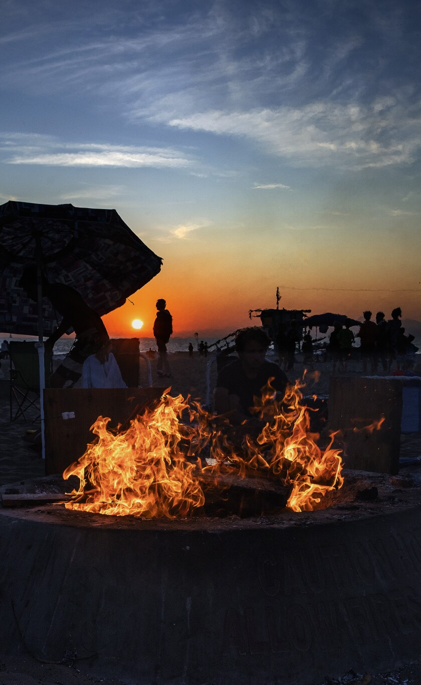 Even the sunsets do a slow burn at Dockweiler, is one of the only beaches in L.A. County that allows bonfires.