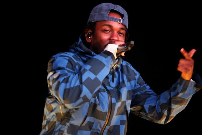 Compton native Kendrick Lamar performs last month at the Rose Bowl in Pasadena.