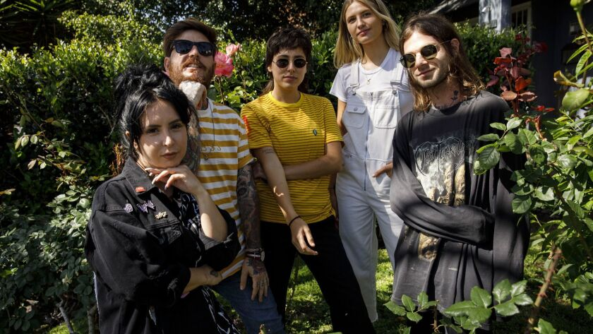 Sirah, left, Adam Weiss, Brittney Scott, Emily Kretzer and Morgan Freed have been organizing regular meetings to address mental health issues in the music community.