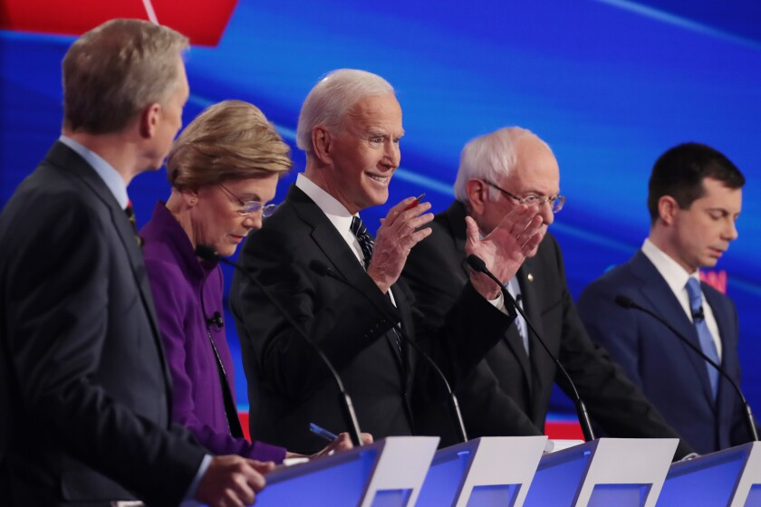 Letters to the Editor: White candidates got wall-to-wall coverage. Look who's left on the debate stage