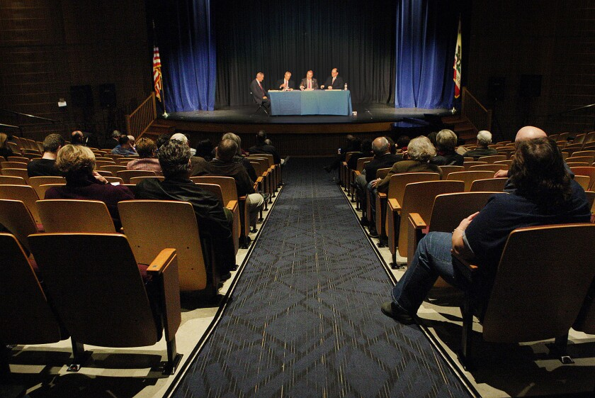 Residents can hear and question three of four candidates running for a seat on the La Cañada Flintridge City Council on the evening of Wednesday, Feb. 12, when the LCF Coordinating Council hosts a forum at Flintridge Preparatory School.