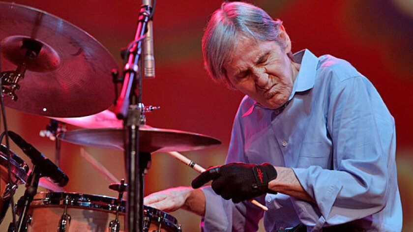 Levon Helm is shown performing in 2009.