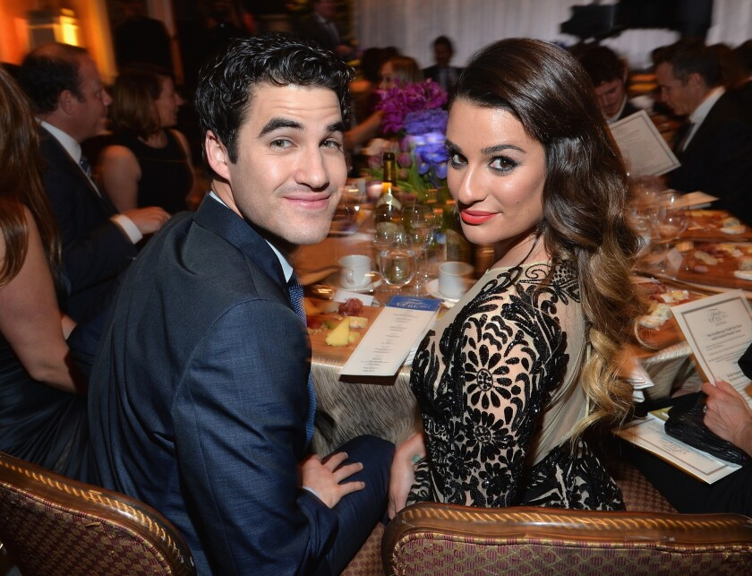 Darren Criss and Lea Michele at the Jonsson Cancer Center Foundation's Taste For a Cure fundraiser