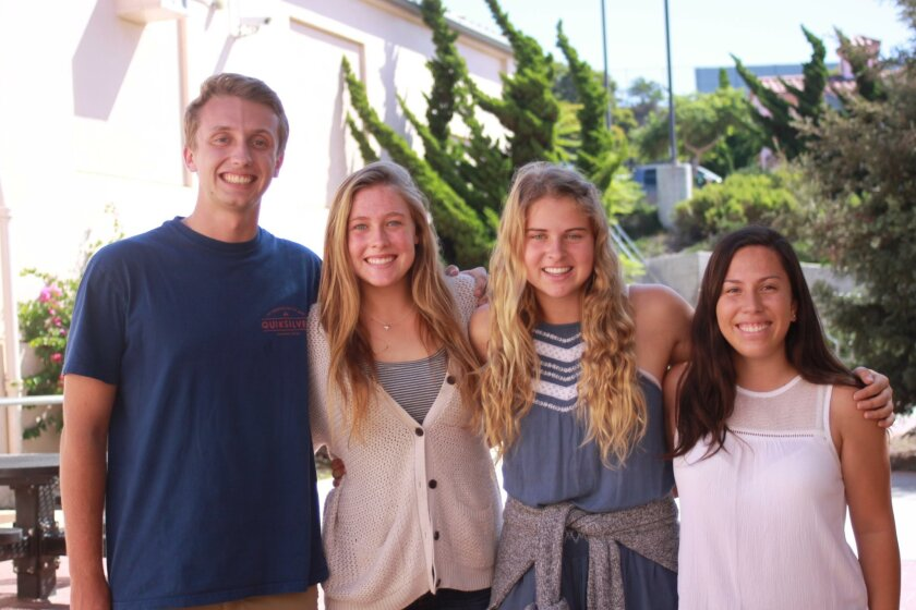 Student Rep-at-Large Grant Devermann, ASB President Claire Andrews,  Vice-president Maya Hildebrand and Treasurer Julia Albenez.