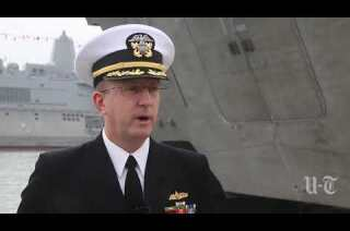 Navy's newest vessel sails into San Diego and a new future in surface warfare