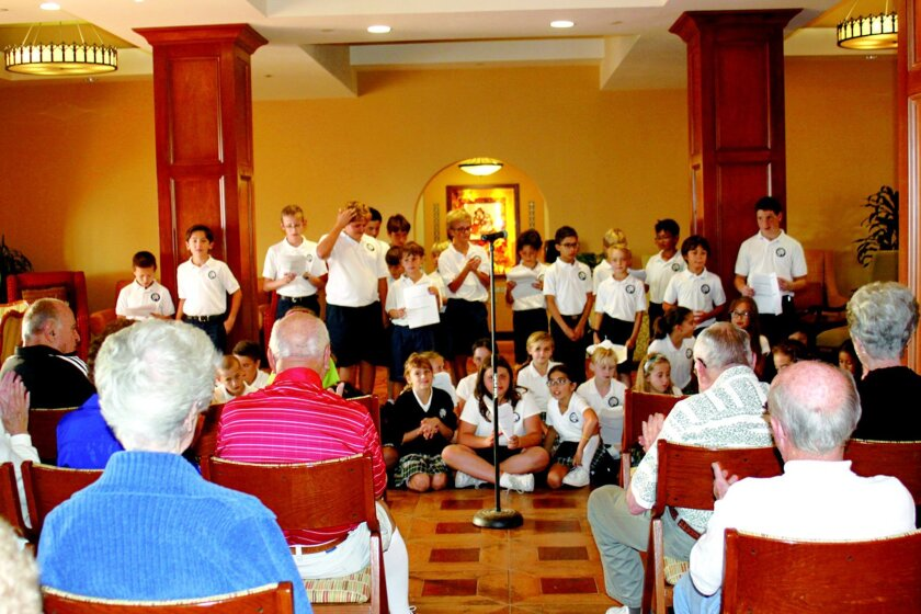 Stella_Maris_kids_singing_to_vets_-_from_back