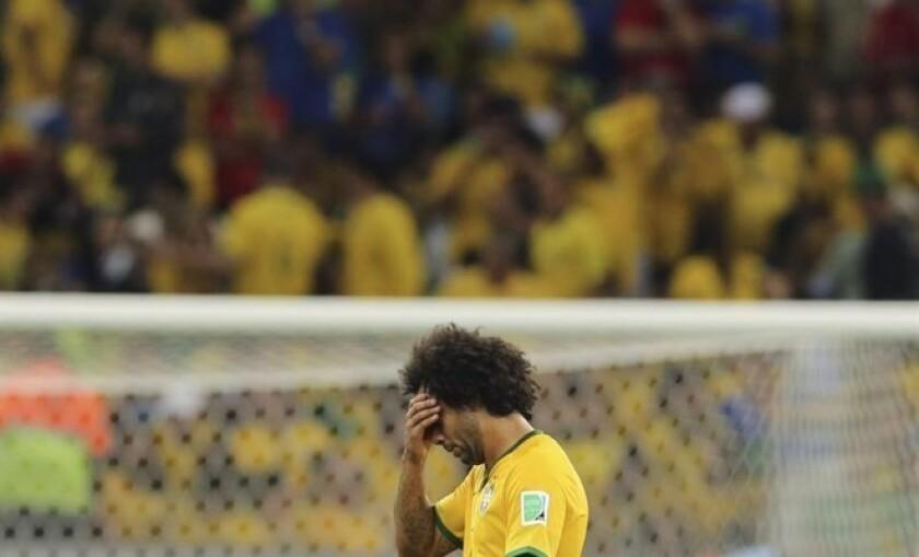 Marcelo se lamenta de la goleada.