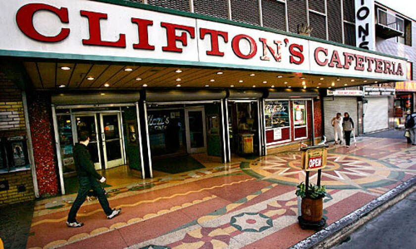 "A SCENE: Local historian Charles Phoenix calls Clifton's the ""world's greatest place to eat."""