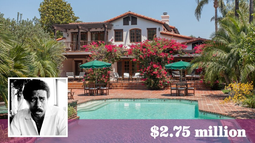 A onetime home of actor-comedian Richard Pryor is for sale in Northridge's Sherwood Forest area for $2.75 million.