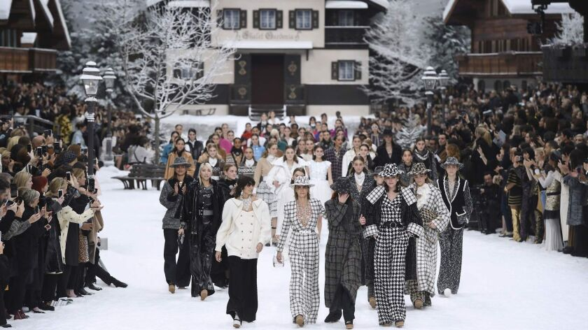 The fall and winter 2019 Chanel runway show at Paris Fashion Week featured the final collection designed by Karl Lagerfeld, who died Feb. 19.