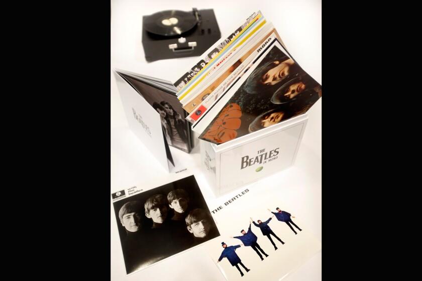 """The Beatles' new 11 volume """"Beatles in Mono"""" box set."""
