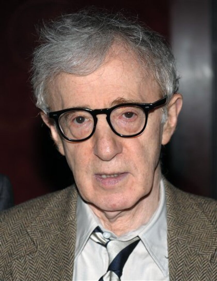 FILE - In this April 22, 2009 file photo, director Woody Allen attends the 2009 Tribeca Film Festival opening premiere of 'Whatever Works' at the Ziegfeld Theater in New York. (AP Photo/Evan Agostini, File)