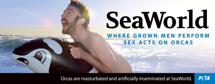 Anti-SeaWorld advertisement created by PETA will be on a mobile billboard this weekend.