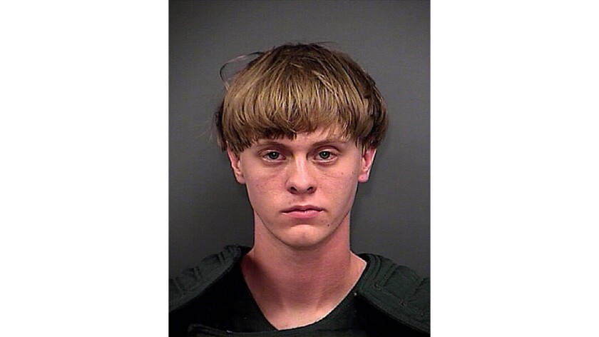 Booking photo of Dylann Storm Roof, who is charged with murder in the shooting deaths of nine people Wednesday night at the historic Emanuel AME Church in Charleston, S.C.
