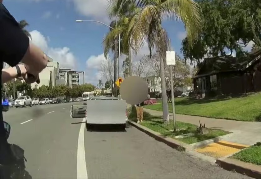 San Diego police on Wednesday released body-worn camera video of a controversial stop on Tuesday afternoon.