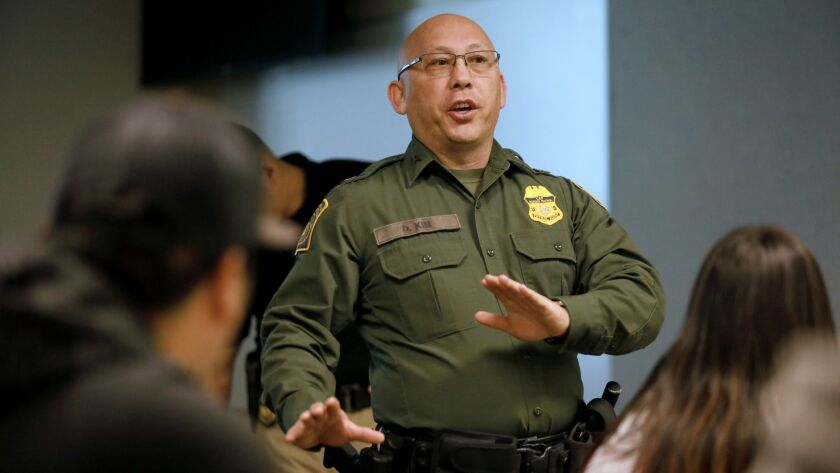 IMPERIAL, CALIF. -- SATURDAY, MARCH 17, 2018: Assistant Chief Patrol Agent David Kim, U.S. Border Pa