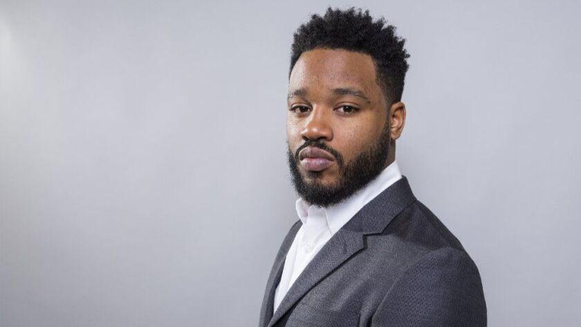 """Filmmaker Ryan Coogler at the """"Black Panther"""" press junket."""