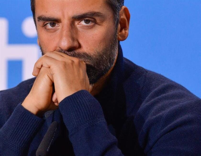 El actor guatemalteco y estadounidense, Oscar Isaac, ofrece una rueda de prensa. EFE/Archivo