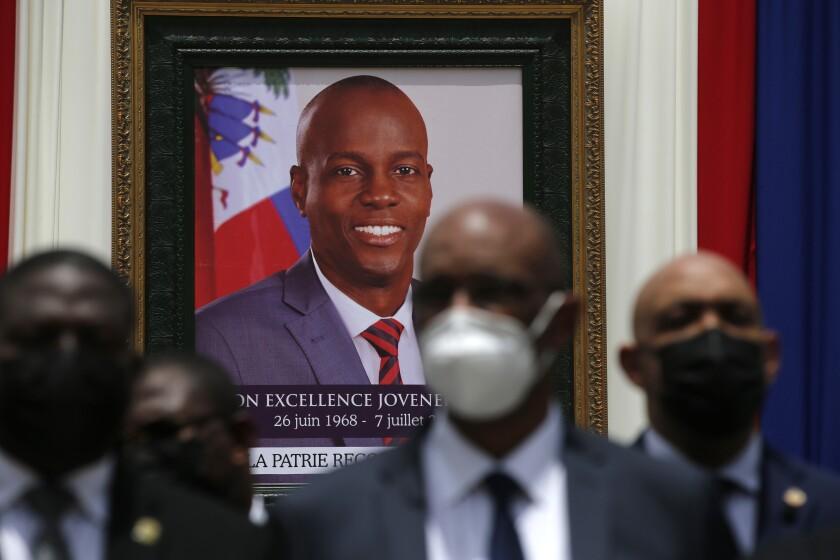 Portrait of late Haitian President Jovenel Moïse