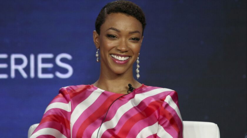"""At the Television Critics Assn. winter press tour, CBS shows with diverse casts and production teams were front and center. Sonequa Martin-Green plays the lead in """"Star Trek Discovery."""""""