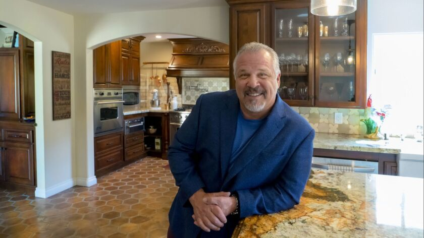 Chef Frank Terzoli at home in Point Loma. Terzoli will be appearing as a contestant in the Top Chef