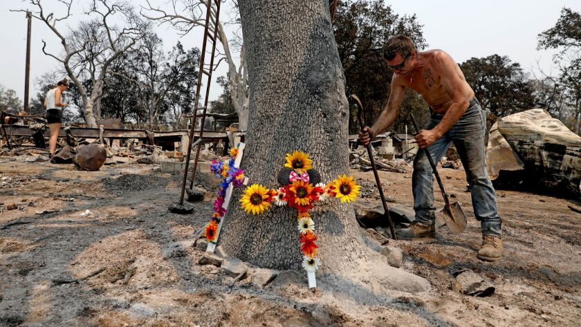 REDDING, CALIF. -- SATURDAY, AUGUST 4, 2018: Brian Bledsoe, 52, son of deceased Melody Bledsoe, 70,