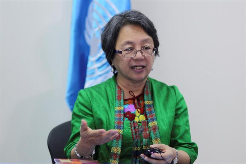 Victoria Tauli Corpuz, relatora especial de Naciones Unidas sobre los derechos de los pueblos indígenas. EFE/Archivo