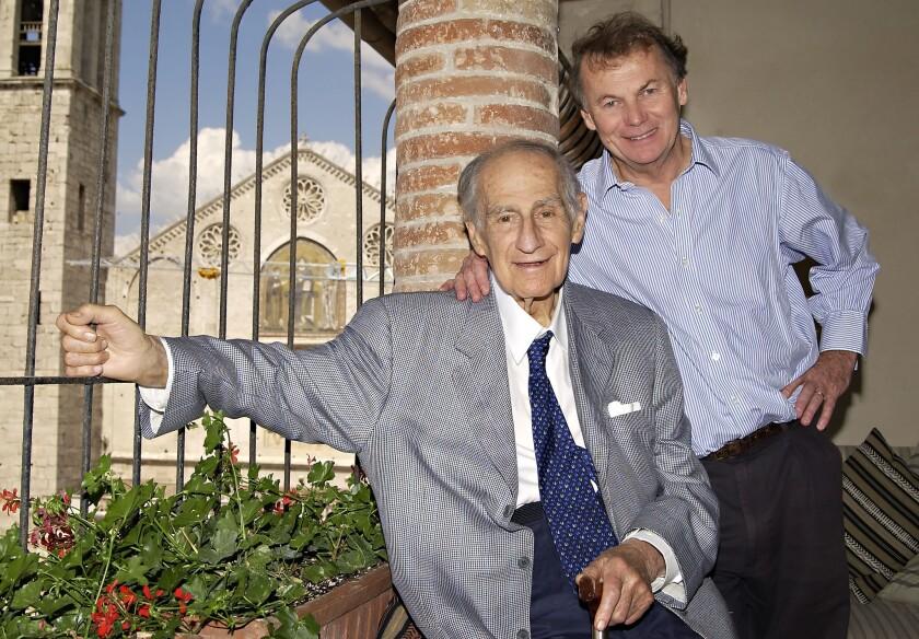 Composer Gian Carlo Menotti and his son Francis.