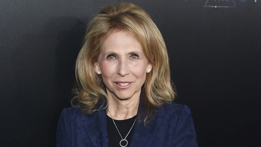 A CBS shareholder group has sued Shari Redstone, pictured here in 2017, saying that it should have voting rights.