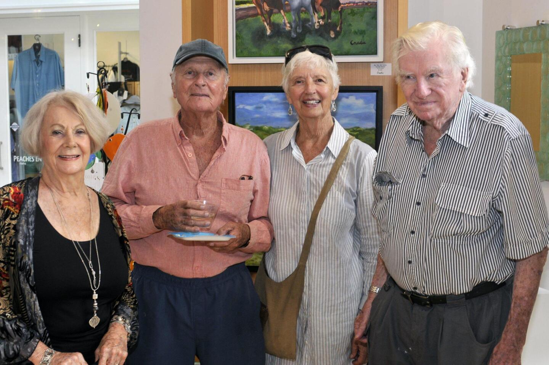 Artist Joan Thorburn, Ben Nyce, Ann Gardner, Gus Thorburn
