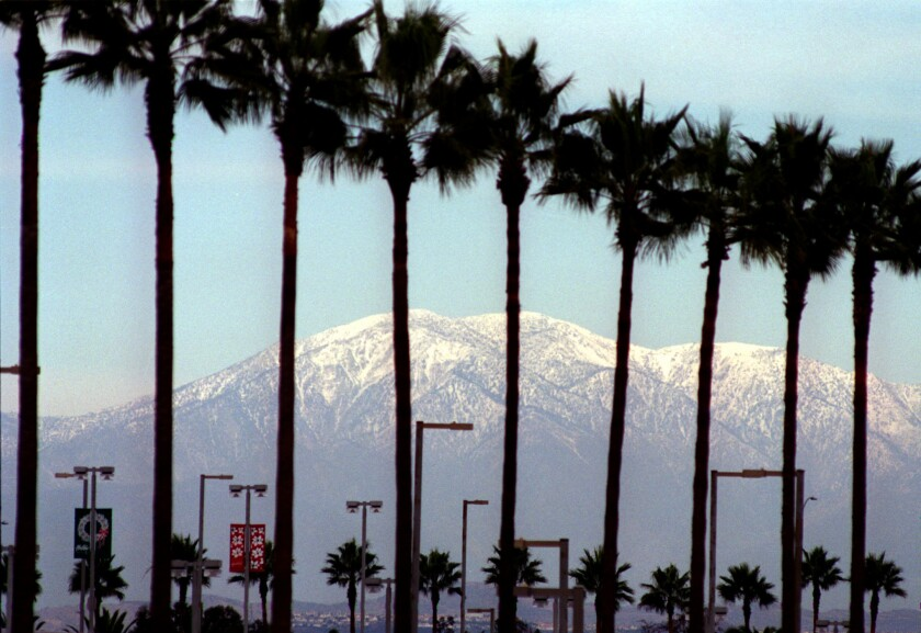Mt. Baldy seen from Irvine