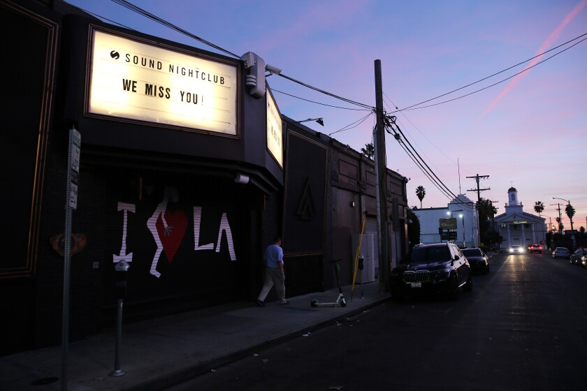 The Sound nightclub in Hollywood on December 6.
