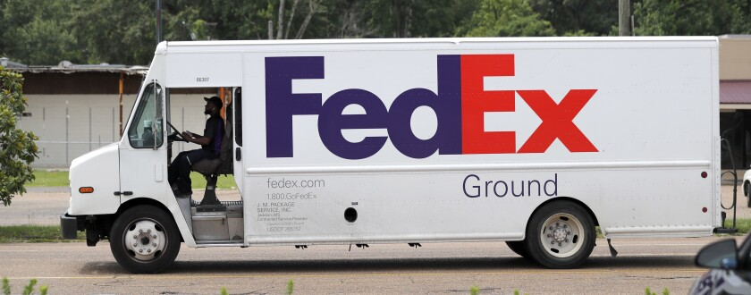 FedEx Ground package van