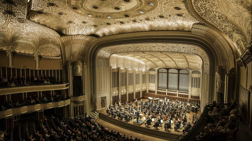 CLEVELAND, OHIO -- THURSDAY, OCTOBER 25, 2018: The Cleveland Orchestra conducted by Ingo Metzmacher