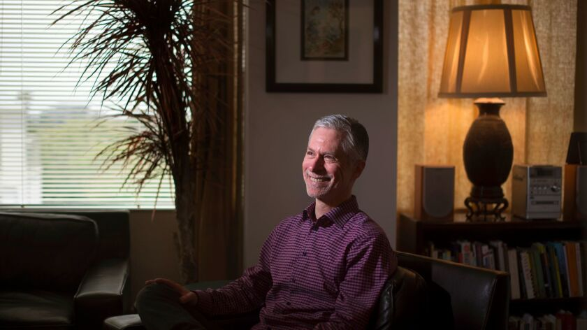 Psychotherapist Barry Michels at his office in West Los Angeles.