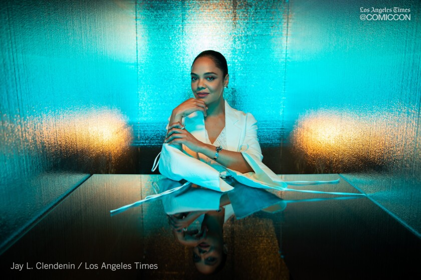 "Actor Tessa Thompson from the television series ""Westworld,"" photographed at the L.A. Times Photo and Video Studio at Comic-Con International on Saturday in San Diego."