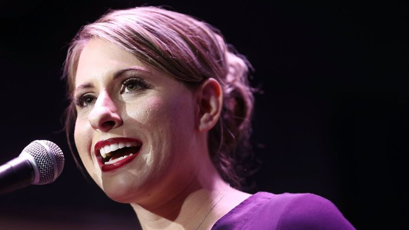 Democratic Congressional Candidate Katie Hill Holds Election Night Event