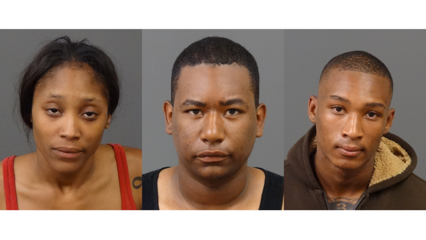 From left, Christian Combs, Jalen Tyrell Hosley and Tyler Liddell were charged with 20, five and 21 counts of burglary, respectively. They've all pleaded not guilty to the charges.